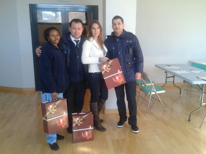 Salome Amankhin, Jorge Luis Díaz, Christian y Sandu Pirván